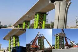 یکصدمین سگمنت در تقاطع غیر همسطح شهید بادپا نصب شد