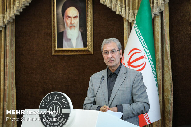 Press conference of Iranian Government's spokesman