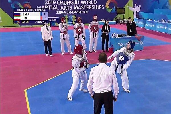 Iran taekwondo wins title at World Martial Arts Masterships