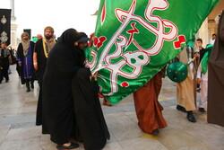 آیین نمادین ورود کاروان امام حسین(ع) به دشت کربلا در قم