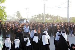 آیین نمادین ورود کاروان امام حسین(ع) به دشت کربلا در هشت بندی