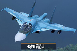 تصاویری دیدنی از مانور هواپیماهای جنگنده