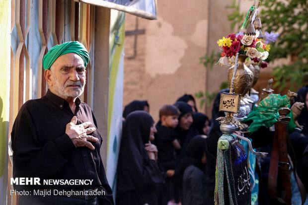 Traditional mourning ceremony of 'Mahale Gardi' in Yazd during Muharram