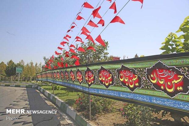 اکران طرحهای فرهنگی ماه محرم در کرج/نصب ۲۵ هزارمتر بیرق مشکی