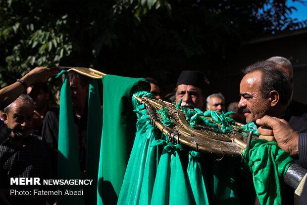 آیین مذهبی علمکشان در روستای انجدان