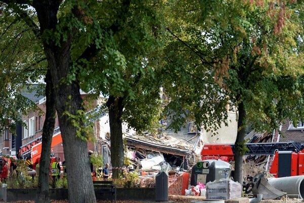 انفجار در بلژیک تعدادی خانه را ویران کرد