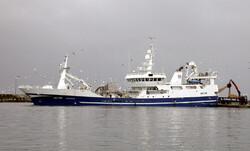 trawling ship