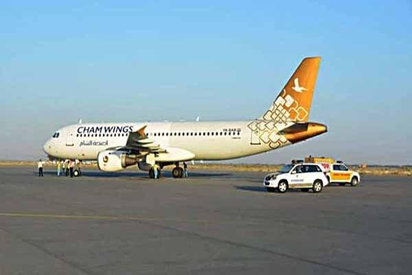 اولین پرواز مستقیم «شام وینگز» سوریه از فرودگاه دمشق به اصفهان