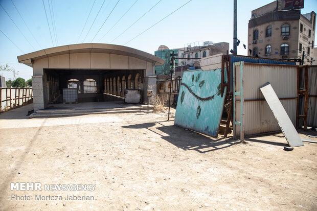 Ahvaz incomplete subway network