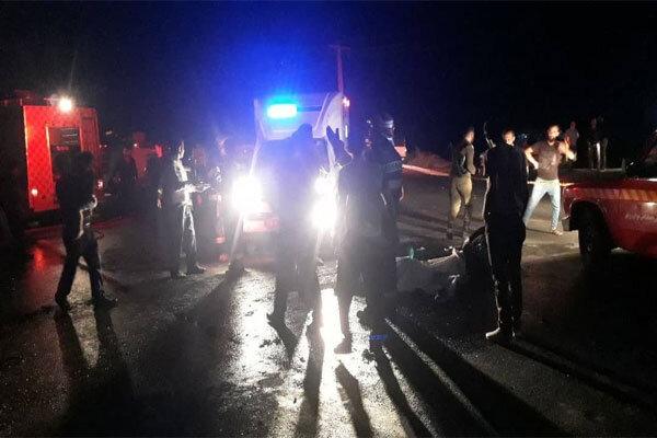 تصادف در جاده «آبباریک» ورامین/یک نفر کشته و ۲ تَن مصدوم شدند