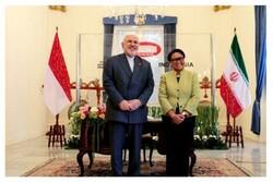 Zarif Cakarta'da Endonezya Dışişleri Bakanı ile görüştü