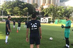 برگزاری اولین تمرین تیم ملی فوتبال ایران در هنگ کنگ
