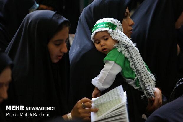 مراسم شیرخوارگان حسینی در مسجد مقدس جمکران