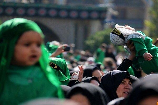 آئین شیرخوارگان حسینی برگزار شد/ رخت عزای علیاصغر (ع) بر تن قومس
