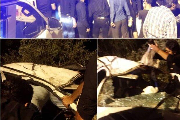 واژگونی پژو ۲۰۶ در بندرترکمن یک کشته برجای گذاشت
