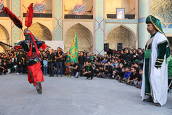 Passion play of a group of the disabled in Amir Chakhmaq Sq. of Yazd