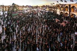 یزد کے امیرچخماق اسکوائر پر معذور افراد کی عزاداری میں شرکت