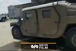 إصابة آلية عسكرية صهيونية بواسطة طائرة مسيرة