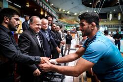 بازدید وزیر ورزش از اردوی تیم ملی کشتی آزاد و فرنگی ایران