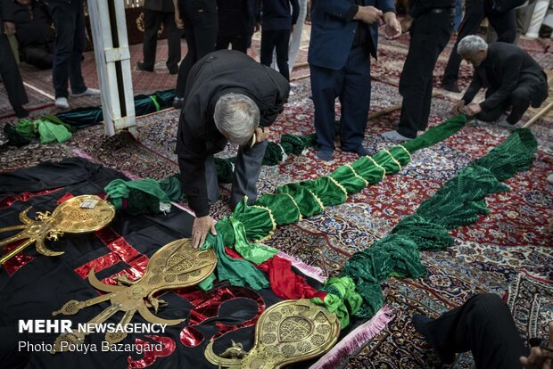 مراسم سنتی علم بندان در ماسوله
