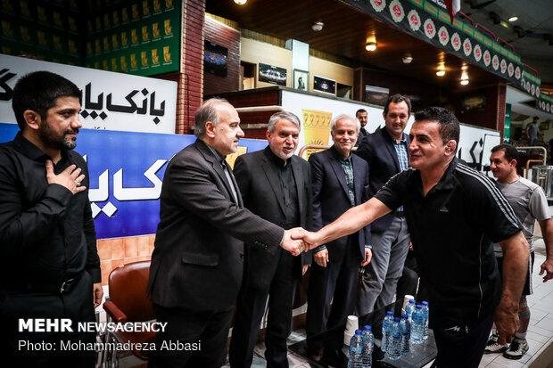 بازدید وزیر ورزش و جوانان از اردوی تیم ملی کشتی آزاد و فرنگی ایران