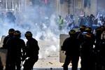 درگیری جلیقه زردها با پلیس فرانسه در شهر لیل