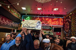 تشییع پیکر شهید «محسن مهاجر قوچانی» پس از ۳۷ سال دوری از وطن