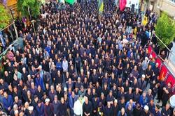 تجمع عظیم عزاداران حسینی در ارومیه برگزار شد