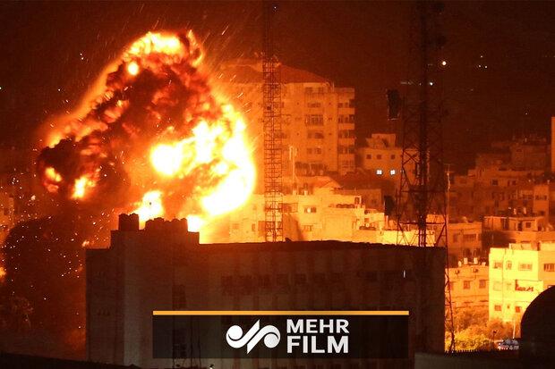 اسرائیل کا غزہ پر ہوائی حملہ