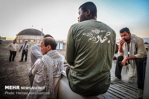 اردوی جهاد سازندگی طلاب غیر ایرانی در آق قلا