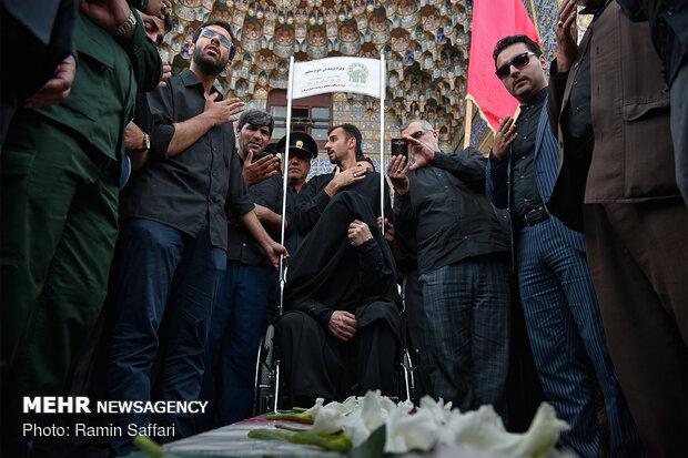 تشییع پیکر شهید «محسن مهاجر قوچانی» پس از 37 سال دوری از وطن