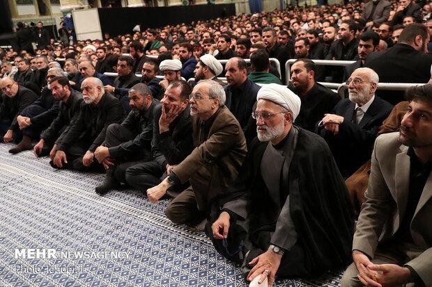 مراسم عزاداری شب تاسوعای حسینی(ع) با حضور رهبر انقلاب