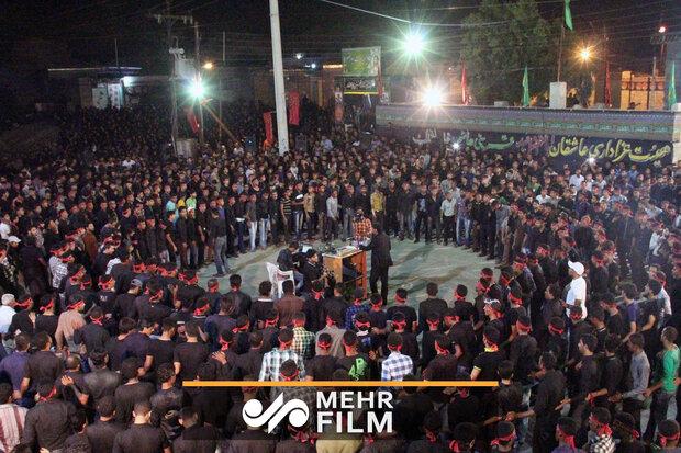 مراسم عزاداری تاسوعای حسینی در هشتبندی هرمزگان