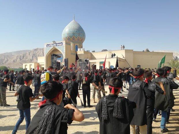 ماتم عزاداران لامردی در تاسوعای حسینی