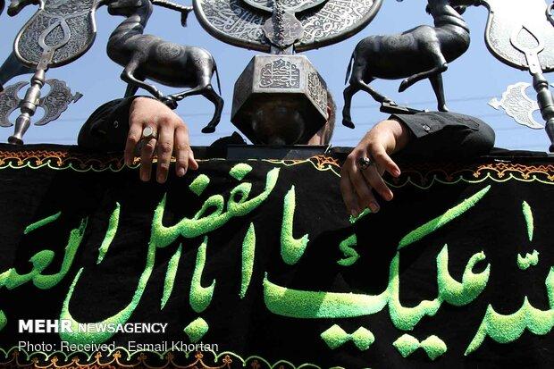 عزاداری مردم سیرجان در روز تاسوعای حسینی 
