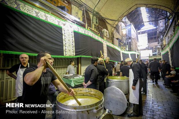 مراسم عزاداری روز تاسوعا در بازار بزرگ تهران