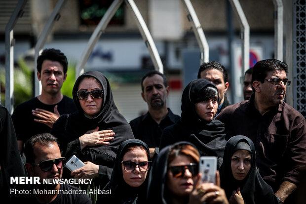 Tasu'a mourning processions in Tehran