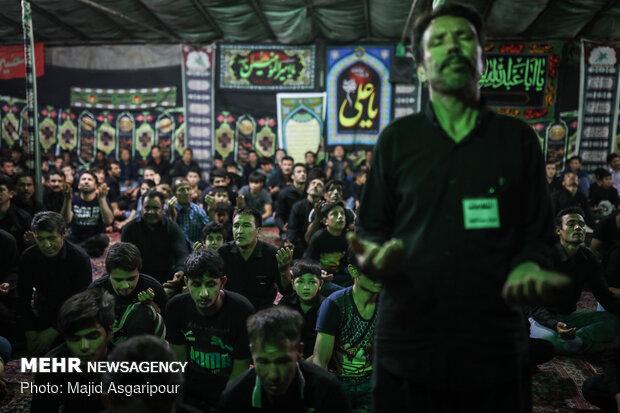 عزاداری شب عاشورای حسینی در نهاوند