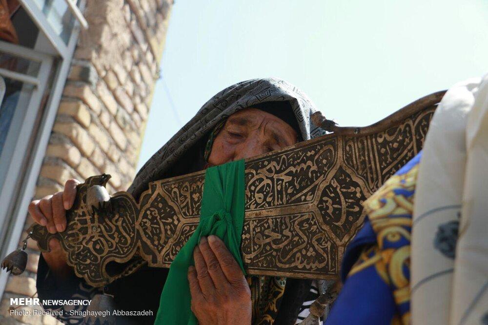 مراسم تاسوعای حسینی در روستای علی آباد شهرستان قوچان