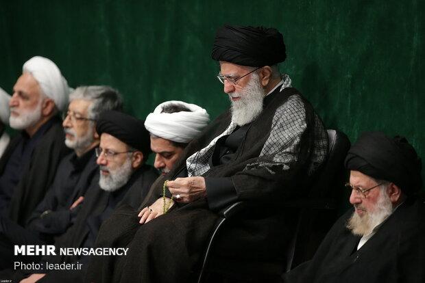 Ayatollah Khamenei attends a Muharram mourning ceremony on the eve of Ashura