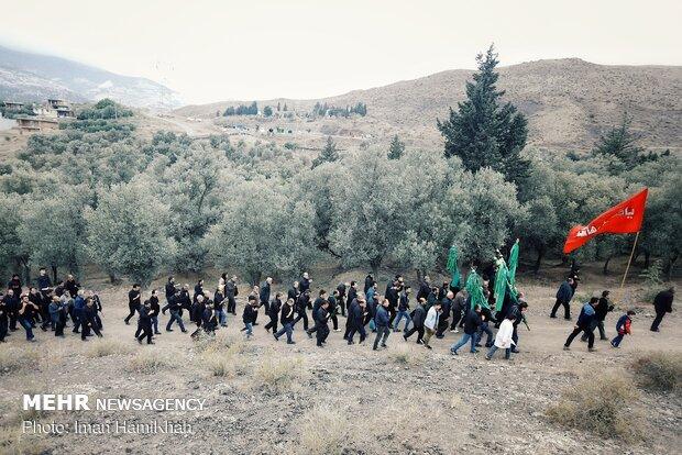 عزاداری روز عاشورا در روستای گنجه