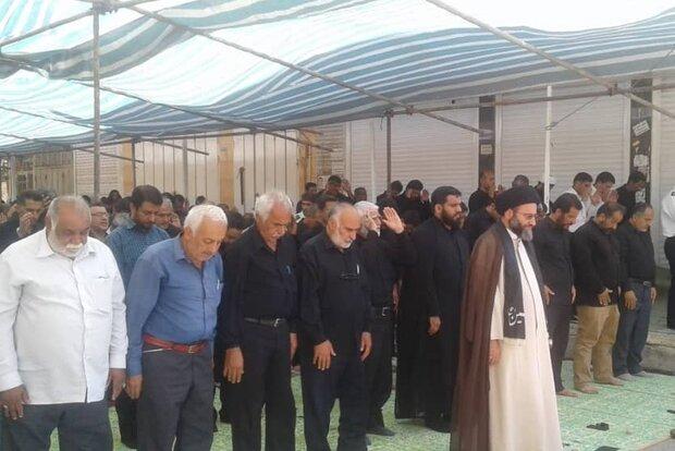 نماز باشکوه ظهر عاشورا در دیلم اقامه شد