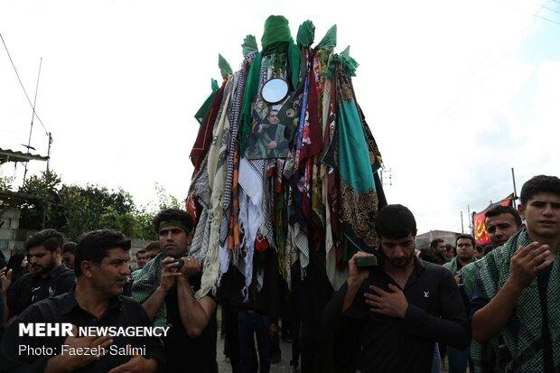 مراسم نخل گردانی روز عاشورا در معلم کلای محمودآباد