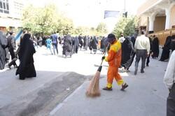 خدمترسانی ۲۵۰۰ نیروی خدماتی شهرداری قم در روزهای تاسوعا و عاشورا