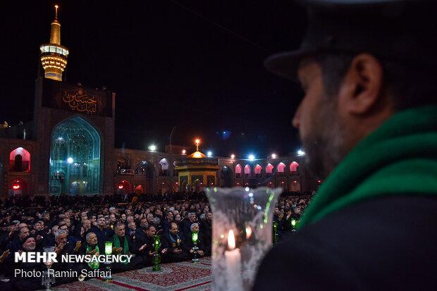 مراسم شام غریبان امام حسین علیه السلام در حرم مطهر رضوی