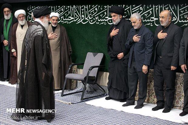 مراسم العزاء على استشهاد ابا عبدالله الحسين (ع) بحضور قائد الثورة