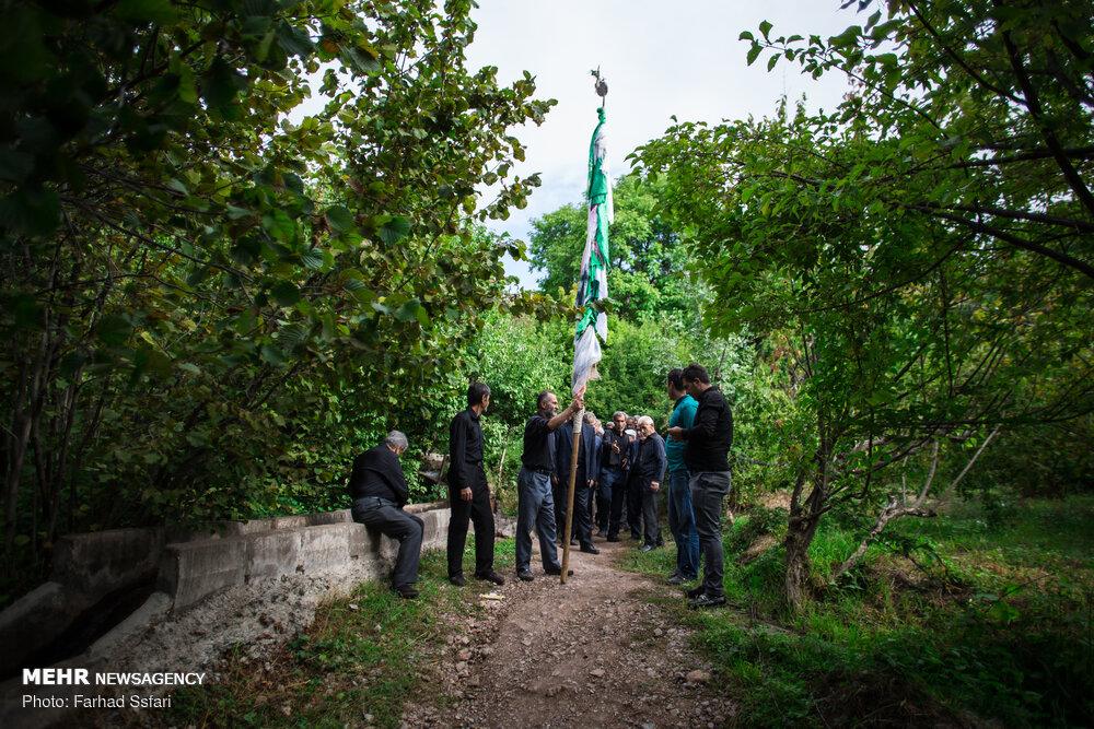 عزاداری عاشورای حسینی در روستای تلاتر قزوین