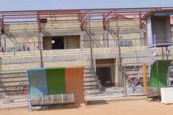 جایگاه ویژه استادیوم تختی خورموج ۷۰درصد پیشرفت فیزیکی دارد