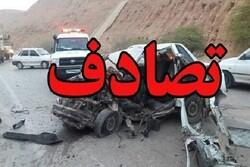 تصادف در محور زنجان- بیجار ۲ فوتی و ۳ زخمی برجای گذاشت