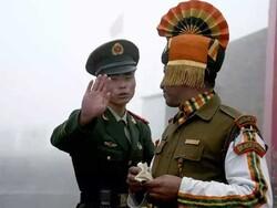 بھارتی اور چینی سپاہیوں کے درمیان ہاتھا پائی